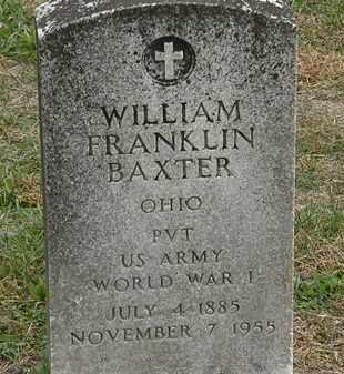 BAXTER, WILLIAM FRANKLIN - Meigs County, Ohio | WILLIAM FRANKLIN BAXTER - Ohio Gravestone Photos