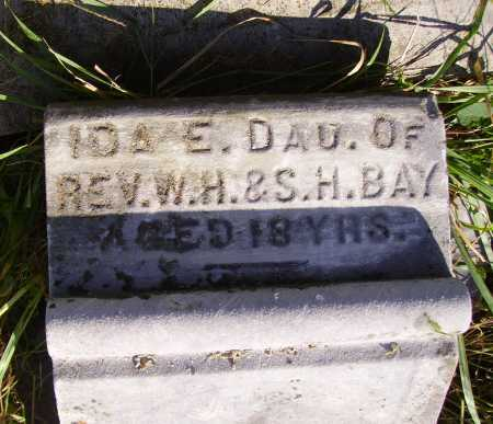 BAY, IDA E. - CLOSER VIEW - Meigs County, Ohio | IDA E. - CLOSER VIEW BAY - Ohio Gravestone Photos