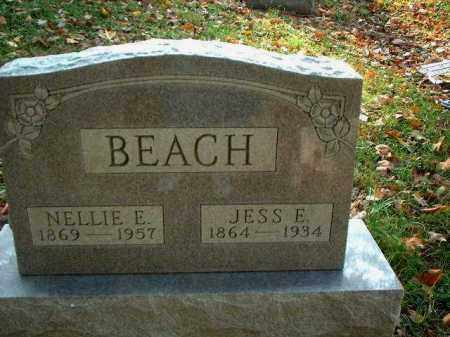 BEACH, JESS E. - Meigs County, Ohio | JESS E. BEACH - Ohio Gravestone Photos