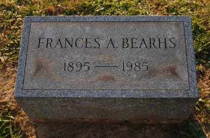 BEARHS, FRANCES A. - Meigs County, Ohio | FRANCES A. BEARHS - Ohio Gravestone Photos