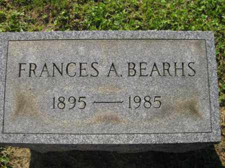 BEARHS, FRANCES A - Meigs County, Ohio | FRANCES A BEARHS - Ohio Gravestone Photos
