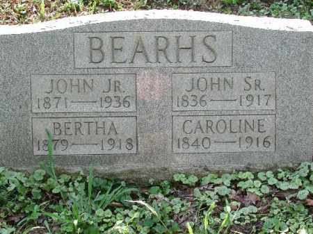 BEARHS, JOHN JR. - Meigs County, Ohio | JOHN JR. BEARHS - Ohio Gravestone Photos