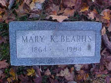 BEARHS, MARY K. - Meigs County, Ohio | MARY K. BEARHS - Ohio Gravestone Photos