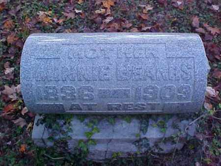 BEARHS, MINNIE - Meigs County, Ohio | MINNIE BEARHS - Ohio Gravestone Photos