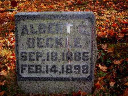 BECKLE, ALBERT C. - Meigs County, Ohio | ALBERT C. BECKLE - Ohio Gravestone Photos