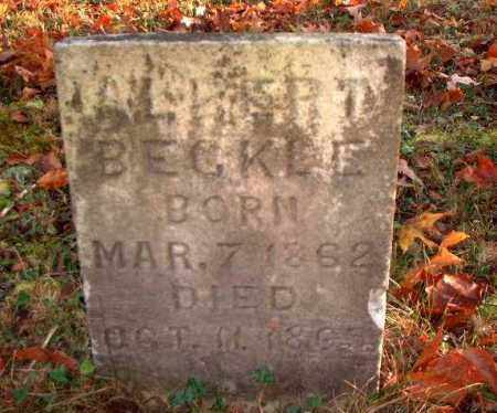 BECKLE, ALBERT - Meigs County, Ohio | ALBERT BECKLE - Ohio Gravestone Photos