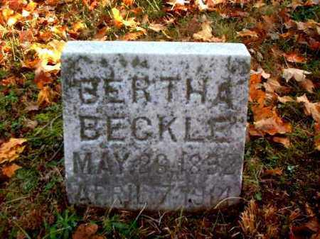 BECKLE, BERTHA - Meigs County, Ohio | BERTHA BECKLE - Ohio Gravestone Photos