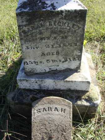 BECKLEY, SARAH - INDIVIDUAL GRAVE MARKER - Meigs County, Ohio | SARAH - INDIVIDUAL GRAVE MARKER BECKLEY - Ohio Gravestone Photos