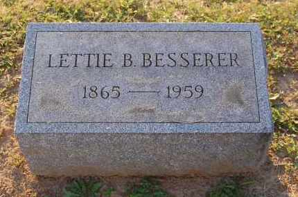 BESSERER, LETTIE B. - Meigs County, Ohio | LETTIE B. BESSERER - Ohio Gravestone Photos