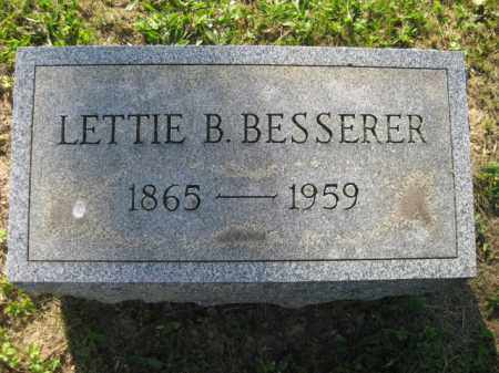 BESSERER, LETTIE B - Meigs County, Ohio | LETTIE B BESSERER - Ohio Gravestone Photos
