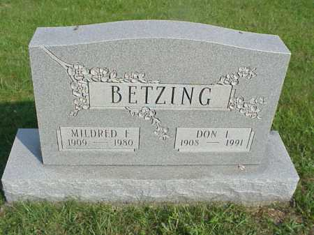 BETZING, DON I. - Meigs County, Ohio | DON I. BETZING - Ohio Gravestone Photos