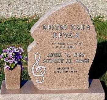 BEVAN, BRITNI DAUN - Meigs County, Ohio | BRITNI DAUN BEVAN - Ohio Gravestone Photos
