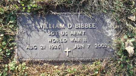 "BIBBEE, WILLIAM ""BILL"" D. - Meigs County, Ohio | WILLIAM ""BILL"" D. BIBBEE - Ohio Gravestone Photos"