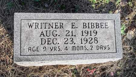 BIBBEE, WRITNER E. - Meigs County, Ohio | WRITNER E. BIBBEE - Ohio Gravestone Photos