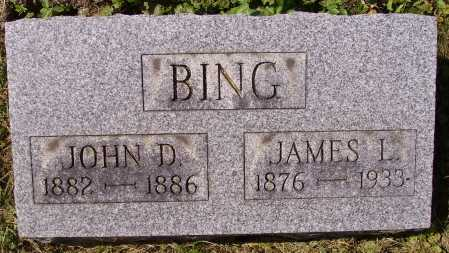 BING, JAMES LAWRENCE. - Meigs County, Ohio | JAMES LAWRENCE. BING - Ohio Gravestone Photos