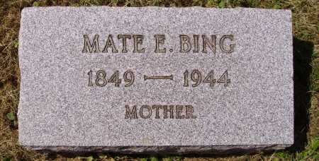 BING, MATE ELIZABETH - Meigs County, Ohio | MATE ELIZABETH BING - Ohio Gravestone Photos