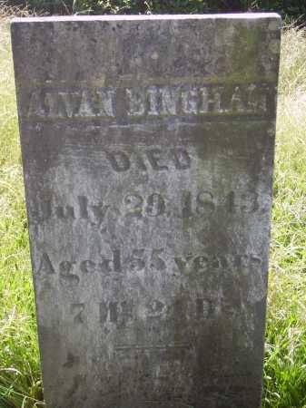 BINGHAM, ALVAN - Meigs County, Ohio | ALVAN BINGHAM - Ohio Gravestone Photos