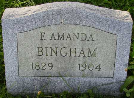 SMITH BINGHAM, FRANCES AMANDA - Meigs County, Ohio | FRANCES AMANDA SMITH BINGHAM - Ohio Gravestone Photos