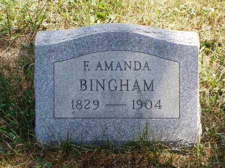 BINGHAM, F. AMANDA - Meigs County, Ohio | F. AMANDA BINGHAM - Ohio Gravestone Photos
