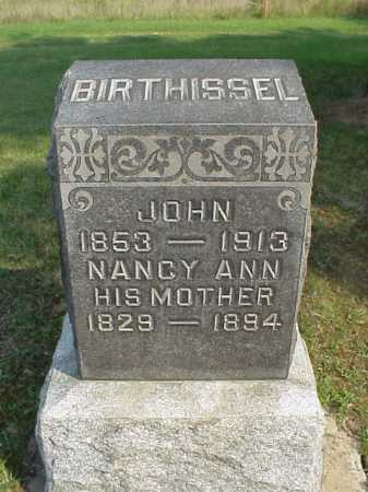 BIRTHISSEL, JOHN - Meigs County, Ohio | JOHN BIRTHISSEL - Ohio Gravestone Photos
