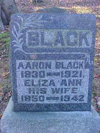 BLACK, ELIZA ANN - Meigs County, Ohio | ELIZA ANN BLACK - Ohio Gravestone Photos