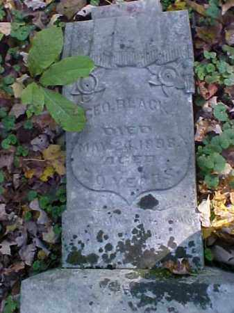 BLACK, GEORGE - Meigs County, Ohio | GEORGE BLACK - Ohio Gravestone Photos