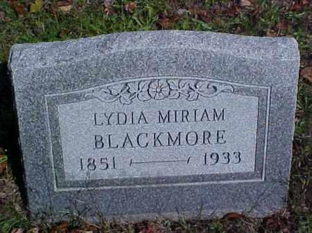 BLACKMORE, LYDIA MIRIAM - Meigs County, Ohio | LYDIA MIRIAM BLACKMORE - Ohio Gravestone Photos