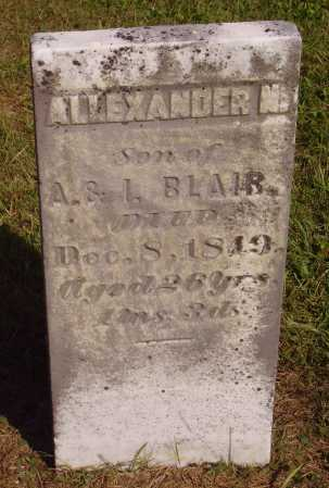 BLAIR, ALEXANDER N. - Meigs County, Ohio | ALEXANDER N. BLAIR - Ohio Gravestone Photos