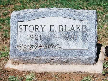 BLAKE, STORY E. - Meigs County, Ohio | STORY E. BLAKE - Ohio Gravestone Photos
