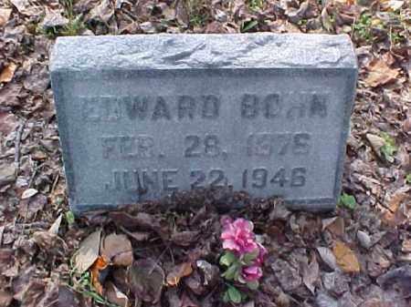 BOHN, EDWARD - Meigs County, Ohio | EDWARD BOHN - Ohio Gravestone Photos