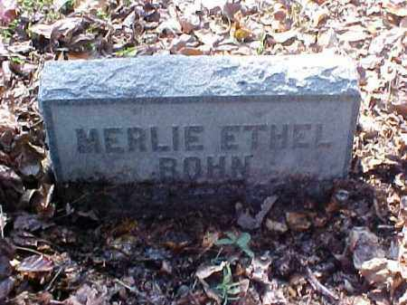 BOHN, MERLIE ETHEL - Meigs County, Ohio | MERLIE ETHEL BOHN - Ohio Gravestone Photos