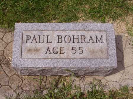 BOHRAM, PAUL - Meigs County, Ohio | PAUL BOHRAM - Ohio Gravestone Photos