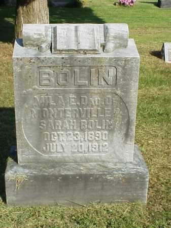 BOLIN, MILA E. - Meigs County, Ohio | MILA E. BOLIN - Ohio Gravestone Photos