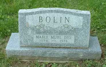 DYE BOLIN, MABLE MURL - Meigs County, Ohio | MABLE MURL DYE BOLIN - Ohio Gravestone Photos
