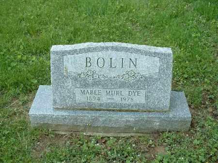 DYE BOLIN, MABLE MURL - Meigs County, Ohio | MABLE MURL DYE BOLIN - Ohio Gravestone Photos