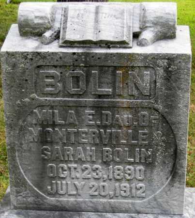 BOLIN, MILA E. - Meigs County, Ohio | MILA E. BOLIN - Ohio Gravestone Photos