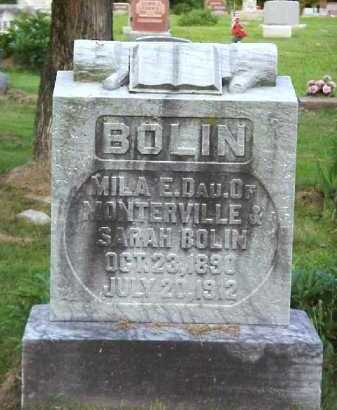 BOLIN E., MILA - Meigs County, Ohio | MILA BOLIN E. - Ohio Gravestone Photos