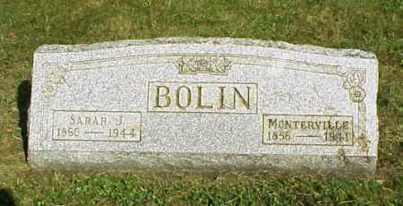BOLIN, MONTERVILLE - Meigs County, Ohio | MONTERVILLE BOLIN - Ohio Gravestone Photos