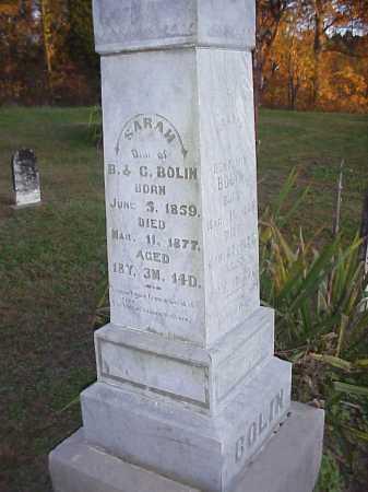 BOLIN, SARAH - Meigs County, Ohio   SARAH BOLIN - Ohio Gravestone Photos