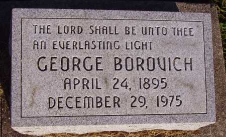 BOROVICH, GEORGE - Meigs County, Ohio | GEORGE BOROVICH - Ohio Gravestone Photos