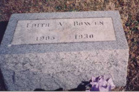 BOWEN, EDITH V. - Meigs County, Ohio | EDITH V. BOWEN - Ohio Gravestone Photos