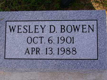 BOWEN, WESLEY D. - Meigs County, Ohio | WESLEY D. BOWEN - Ohio Gravestone Photos