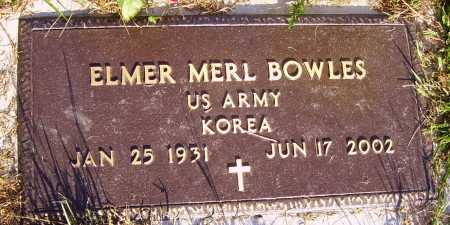 BOWLES, ELMER MERL - MILITARY - Meigs County, Ohio | ELMER MERL - MILITARY BOWLES - Ohio Gravestone Photos