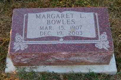 BOWLES, MARGARET L. - Meigs County, Ohio | MARGARET L. BOWLES - Ohio Gravestone Photos