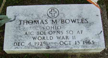 BOWLES, THOMAS M. - Meigs County, Ohio | THOMAS M. BOWLES - Ohio Gravestone Photos