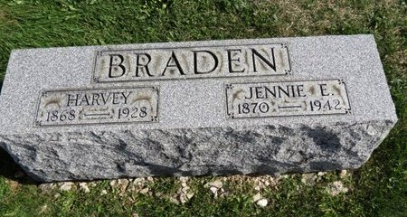 BRADEN, JENNIE E. - Meigs County, Ohio | JENNIE E. BRADEN - Ohio Gravestone Photos