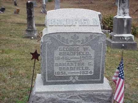 BRADFIELD, SAMANTHA G. - Meigs County, Ohio | SAMANTHA G. BRADFIELD - Ohio Gravestone Photos