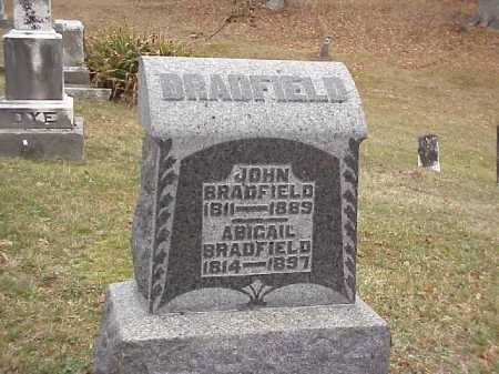BRADFIELD, ABAGAIL - Meigs County, Ohio | ABAGAIL BRADFIELD - Ohio Gravestone Photos