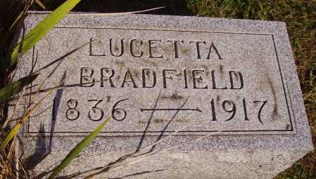 HOWELL BRADFIELD, LUCETTA - Meigs County, Ohio | LUCETTA HOWELL BRADFIELD - Ohio Gravestone Photos