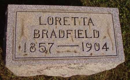BRADFIELD, LORETTA - Meigs County, Ohio | LORETTA BRADFIELD - Ohio Gravestone Photos